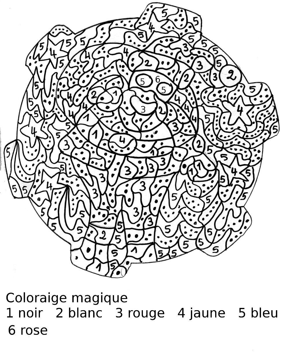 Coloriage Magique De Noel Cm1 A Imprimer avec Coloriage Codé Noel