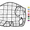 Coloriage Magique - Elmer Addition pour Coloriage Magique Cp Calcul