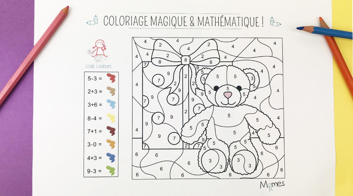 Coloriage Magique Et Mathématique : Noël - Momes encequiconcerne Coloriage Codé Noel