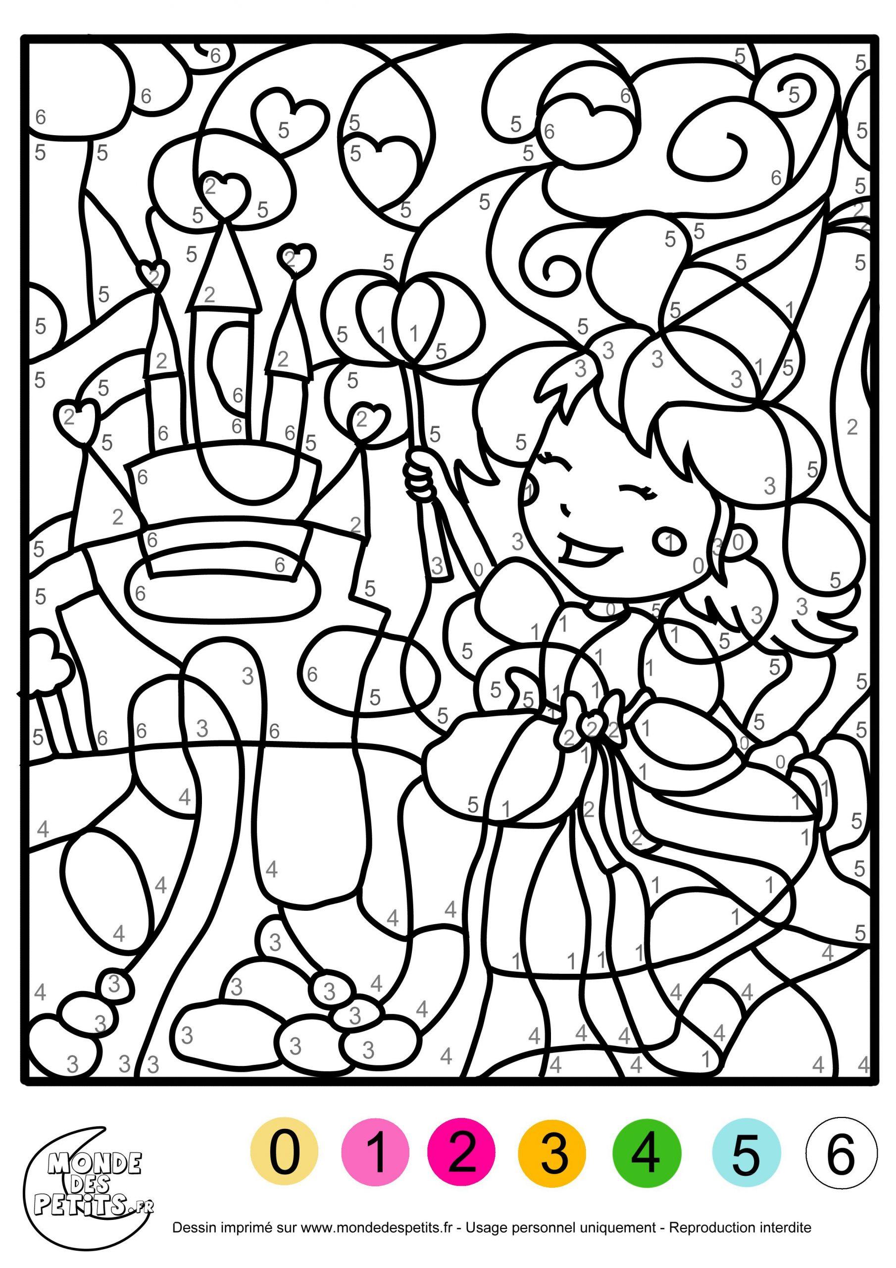 Coloriage-Magique-Fille (2480×3508) | Coloriage Numéroté avec Jeux De Peinture Pour Fille