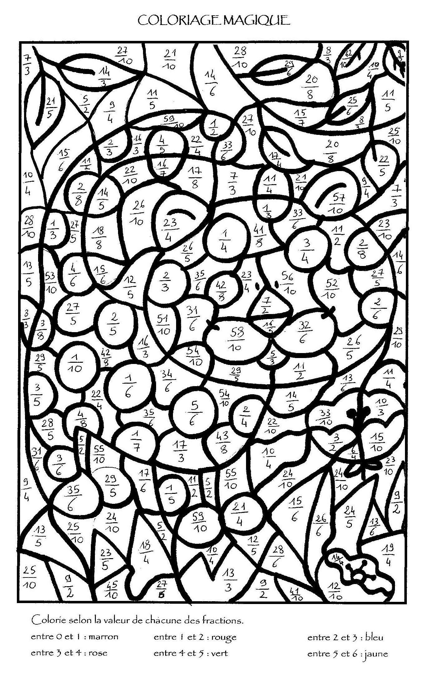 Coloriage Magique Multiplication À Colorier - Dessin À intérieur Coloriage Codé Ce1