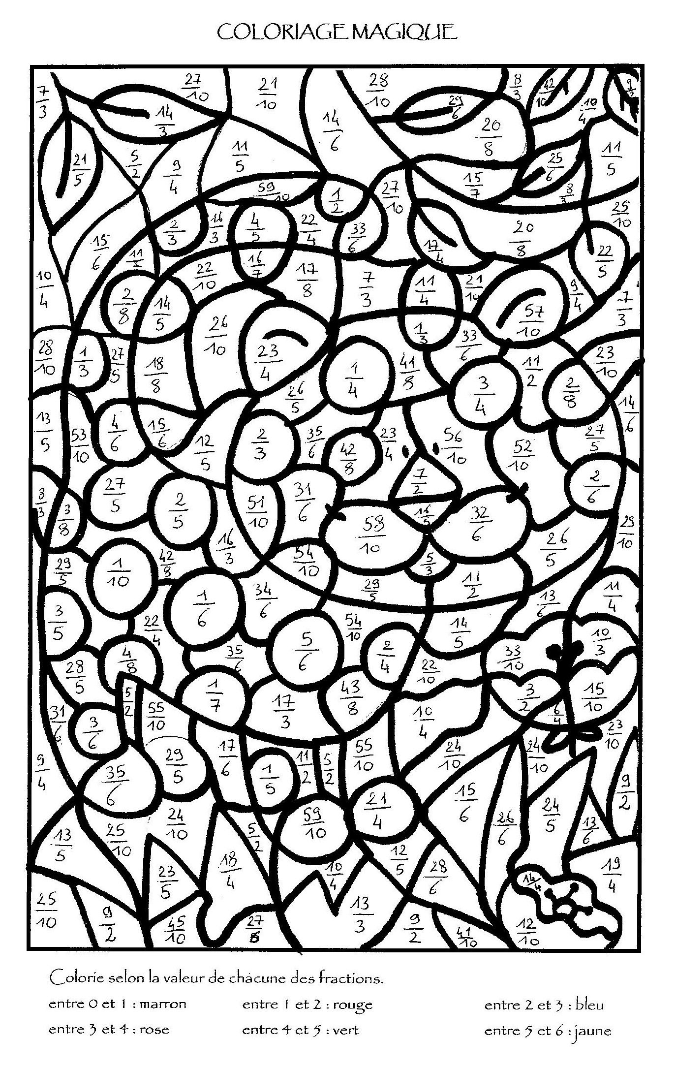 Coloriage Magique Multiplication À Colorier - Dessin À pour Coloriage De Calcul