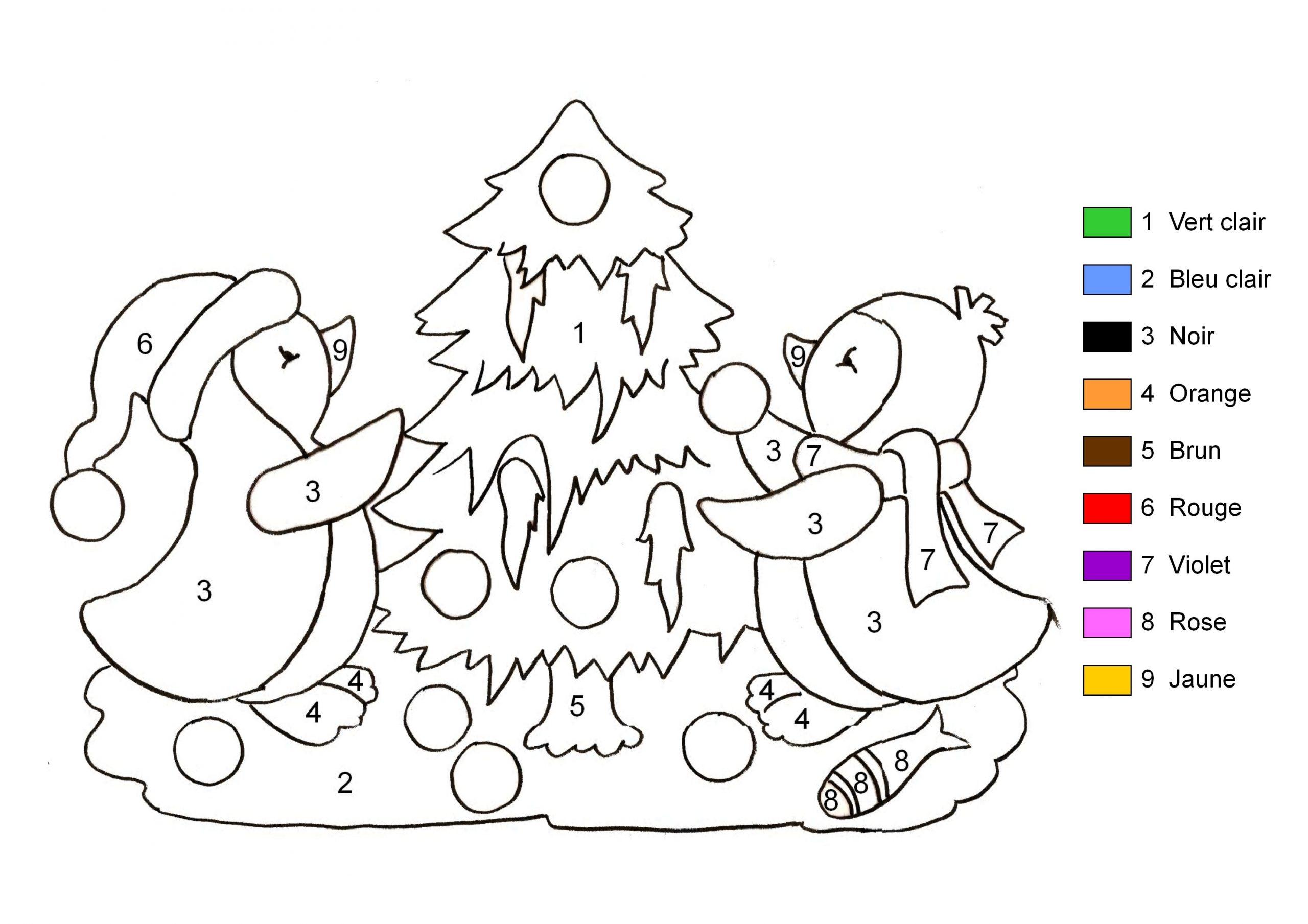 Coloriage Magique Sapin De Noël À Imprimer serapportantà Dessin De Noel En Couleur A Imprimer