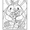 Coloriage Magique Un Lapin Pour Pâques destiné Coloriage Numéroté Maternelle
