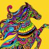Coloriage Mandala Cheval Sur Hugolescargot concernant Cheval Dessin Couleur