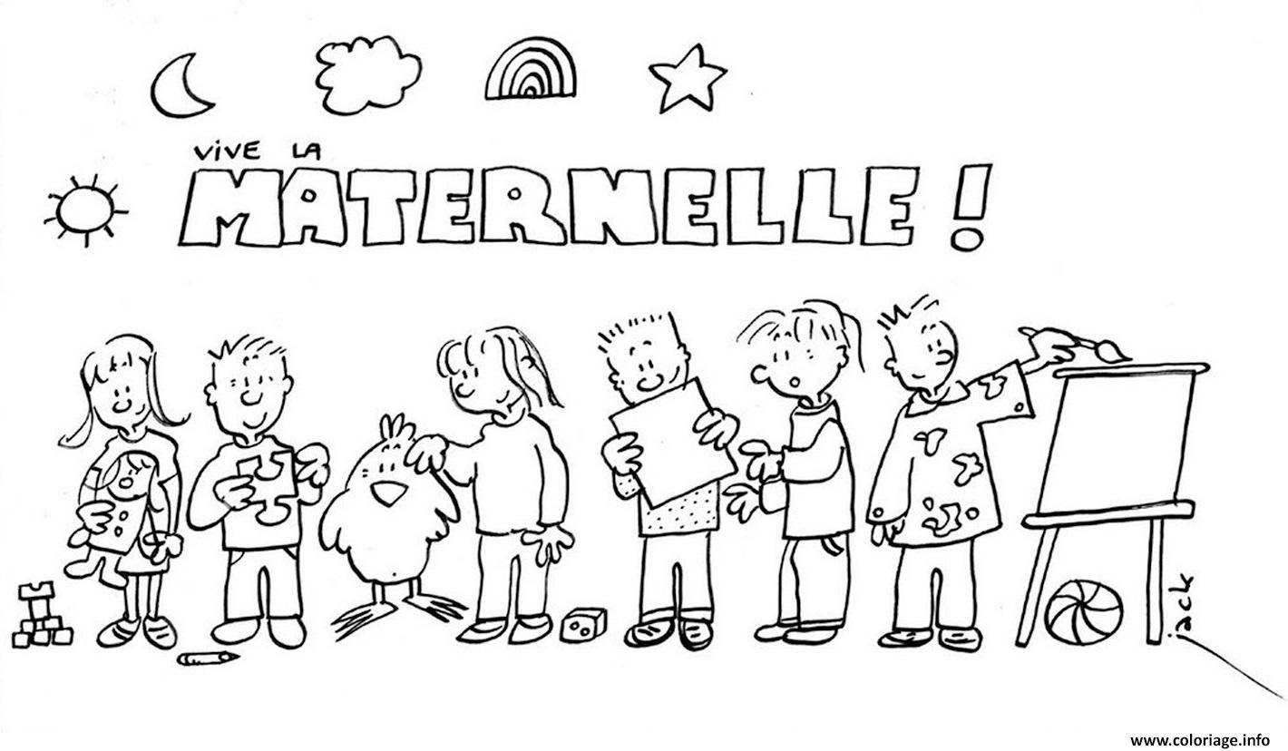Coloriage Maternelle Rentree Scolaire Dessin tout Coloriage Classe Maternelle