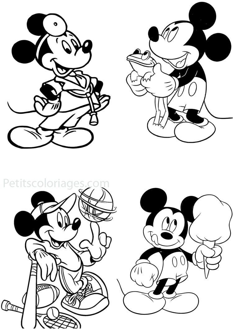 Coloriage Mickey Sur Ordinateur intérieur Dessin À Colorier Sur L Ordinateur
