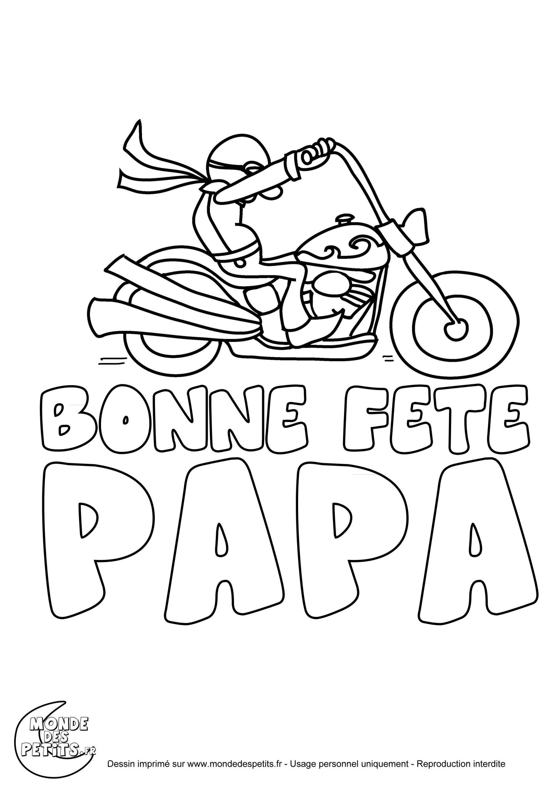 Coloriage Moto Fête Des Pères | Coloriage Fete Des Peres dedans Coloriage Fete Des Peres A Imprimer Gratuit