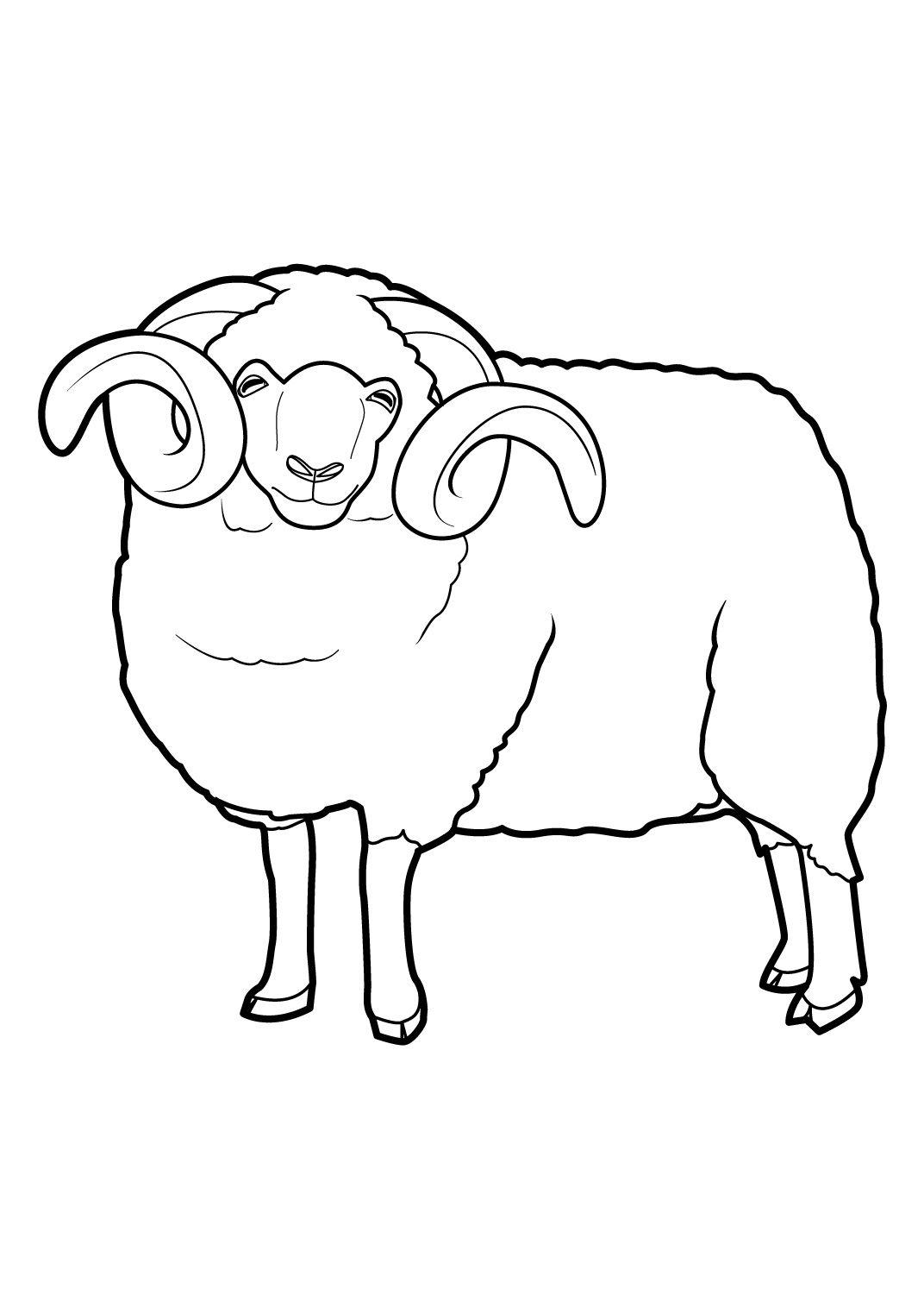 Coloriage Mouton A Imprimer 16 | Coloriage Mouton, Image serapportantà Mouton À Colorier