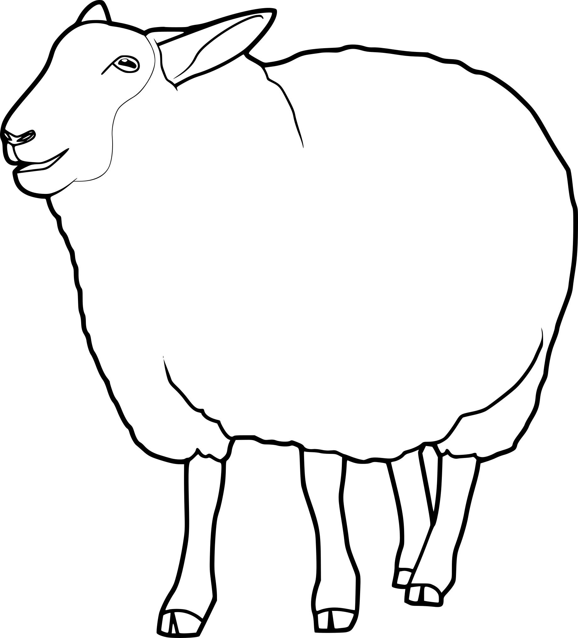 Coloriage Mouton À Imprimer destiné Mouton À Colorier