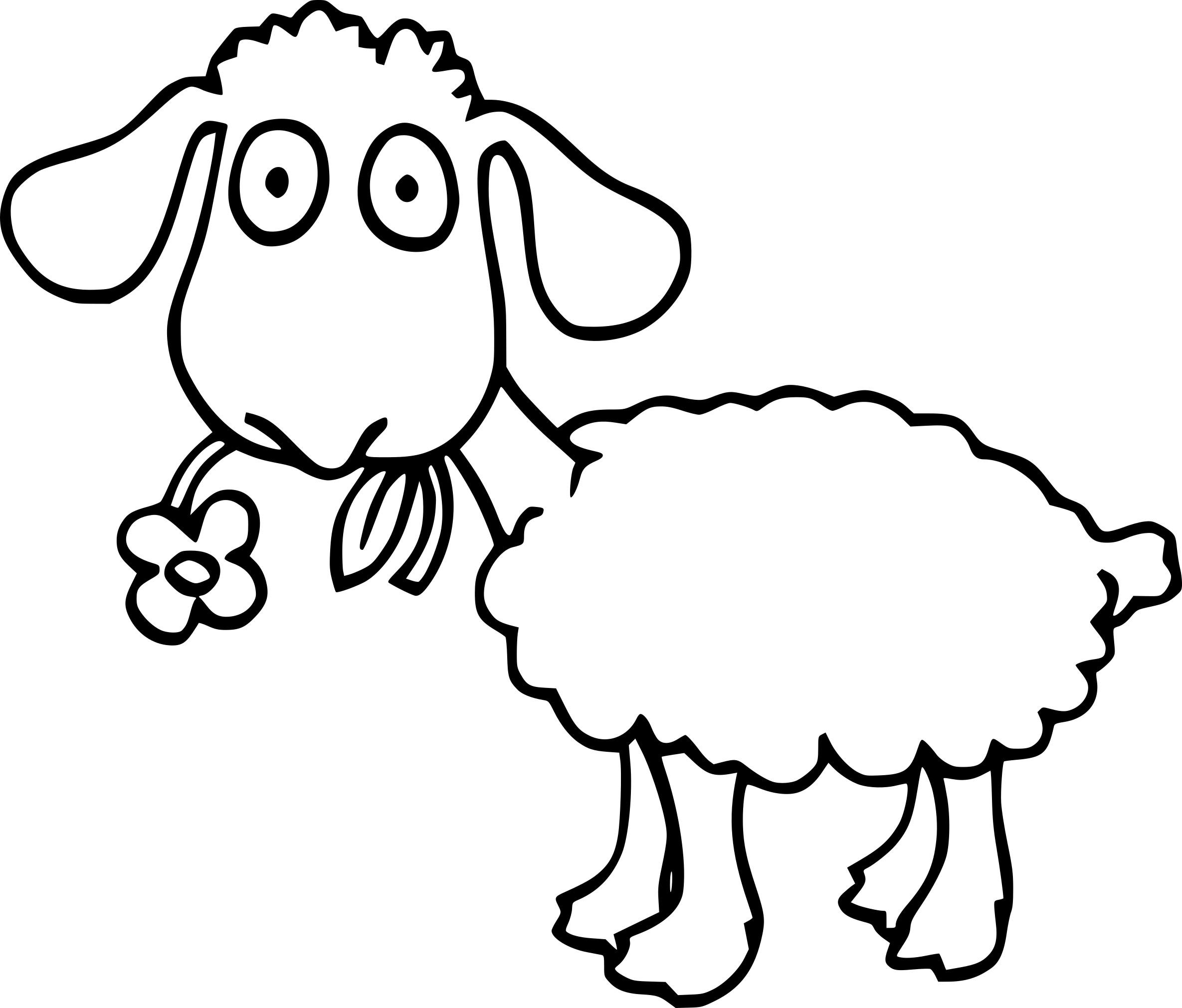 Coloriage Mouton Et Dessin À Imprimer à Mouton À Colorier