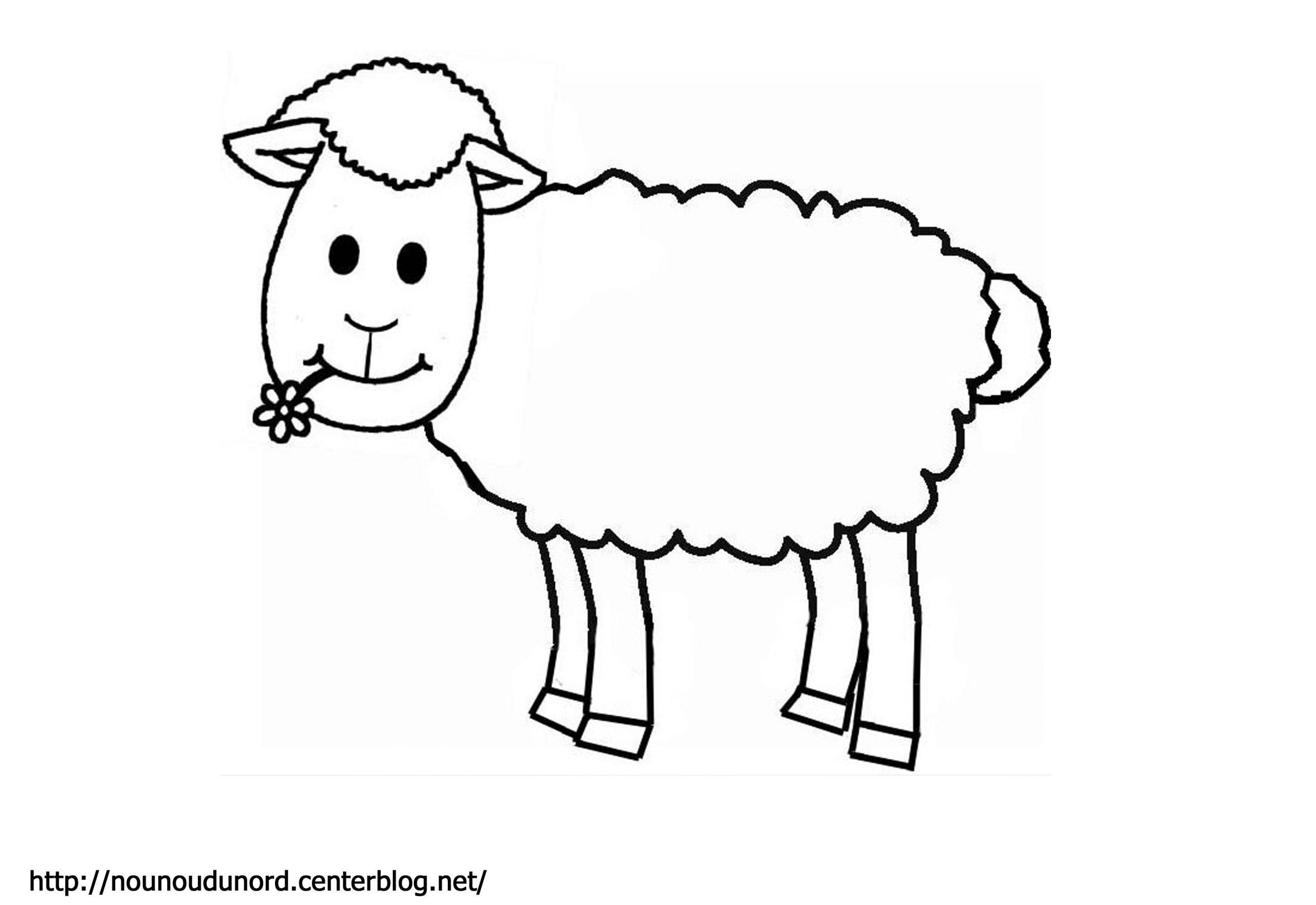 Coloriage Mouton - Les Beaux Dessins De Animaux À Imprimer pour Mouton À Colorier