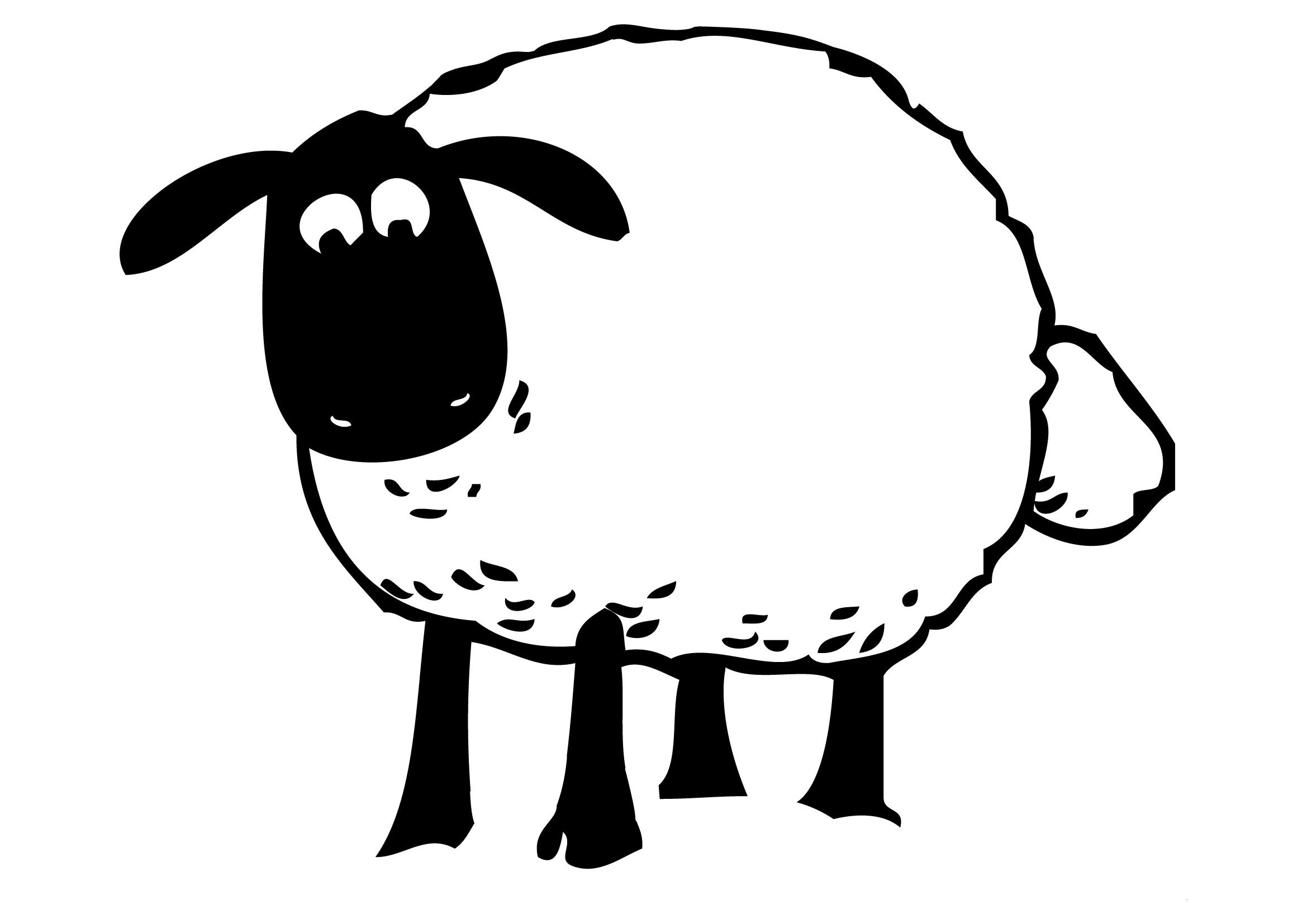 Coloriage Mouton Tete Noir | Coloriage Mouton, Dessin Facile encequiconcerne Mouton À Colorier