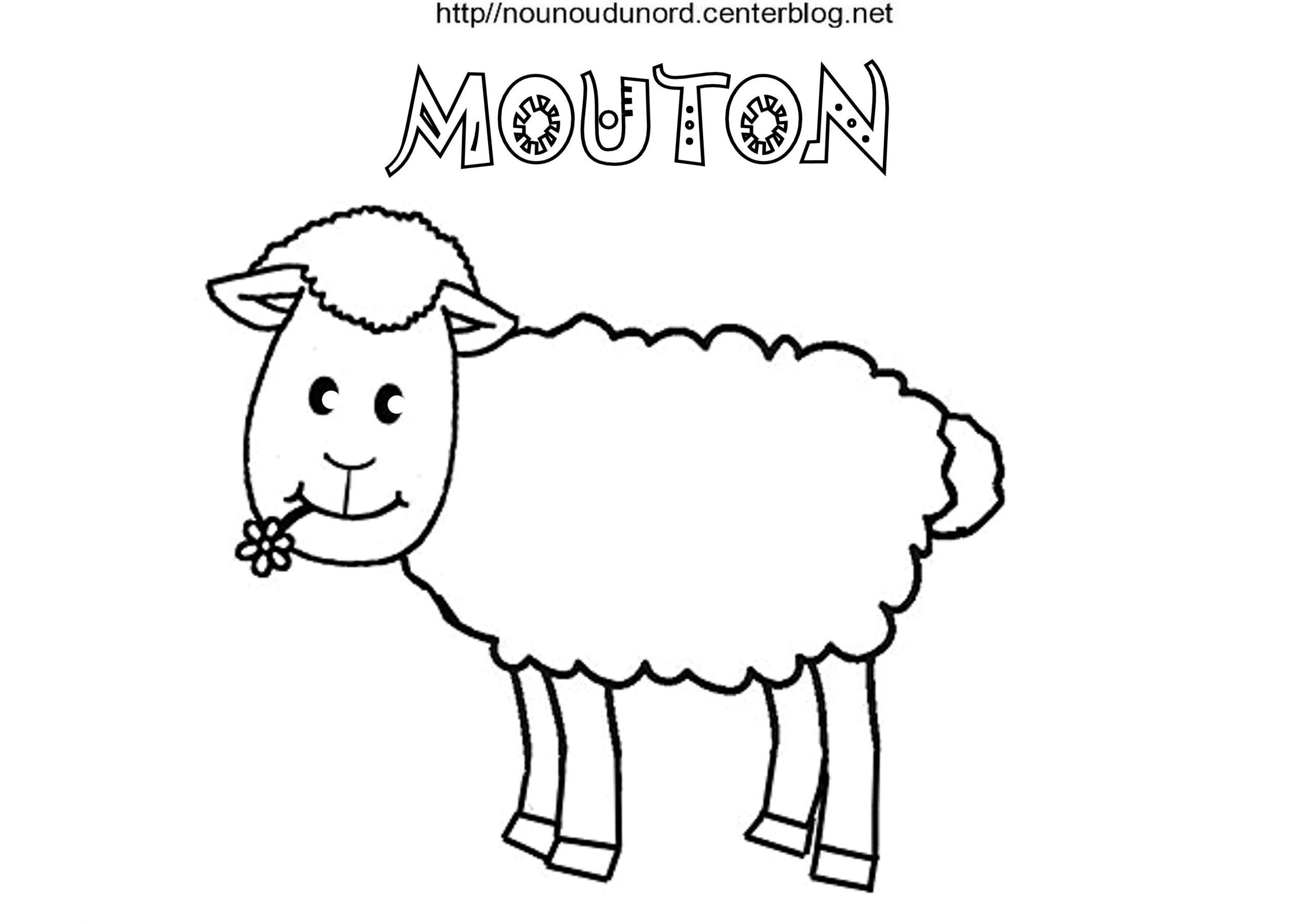 Coloriage Paques Mouton serapportantà Mouton À Colorier