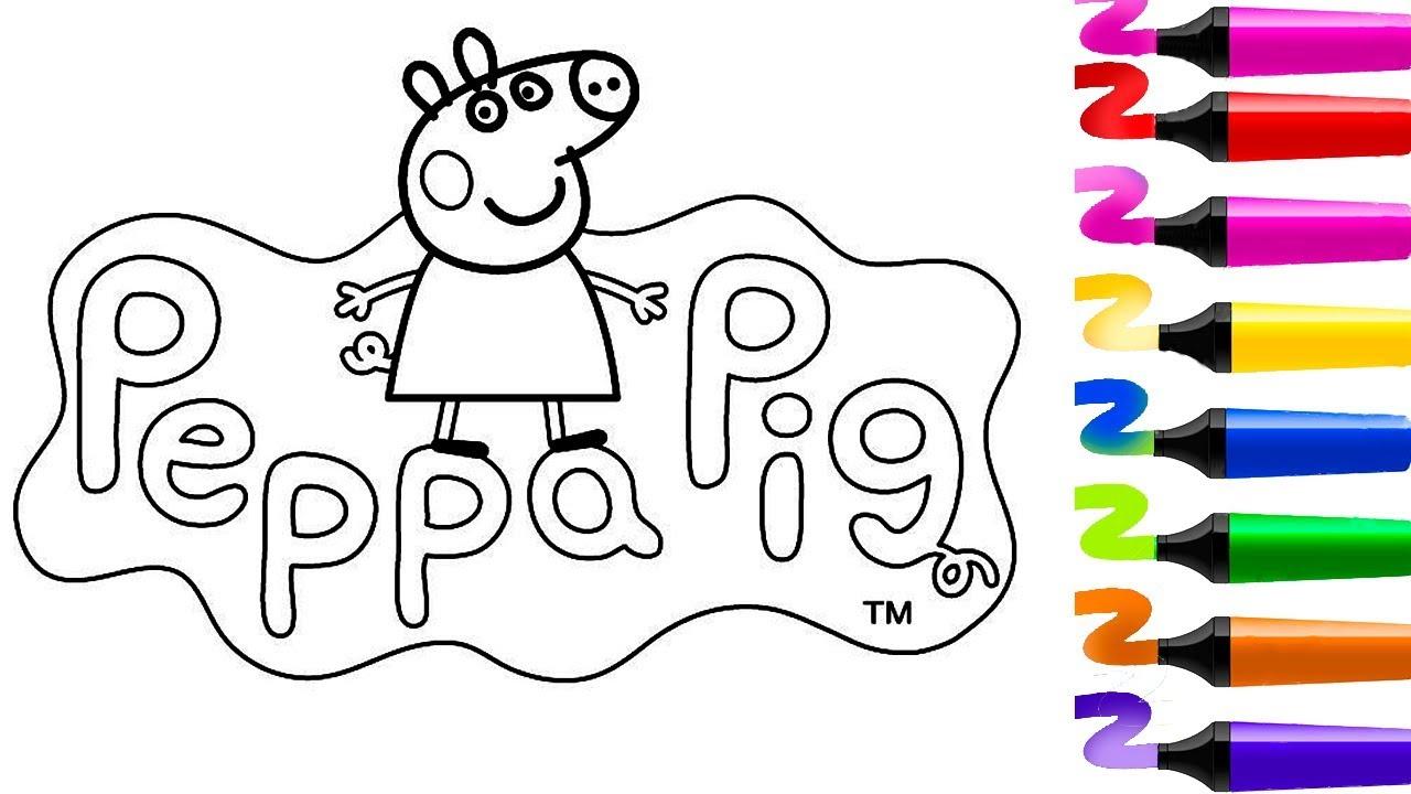 Coloriage Peppa Pig! Coloriage Magique!dessin Facile Peppa encequiconcerne Dessin À Colorier Cochon