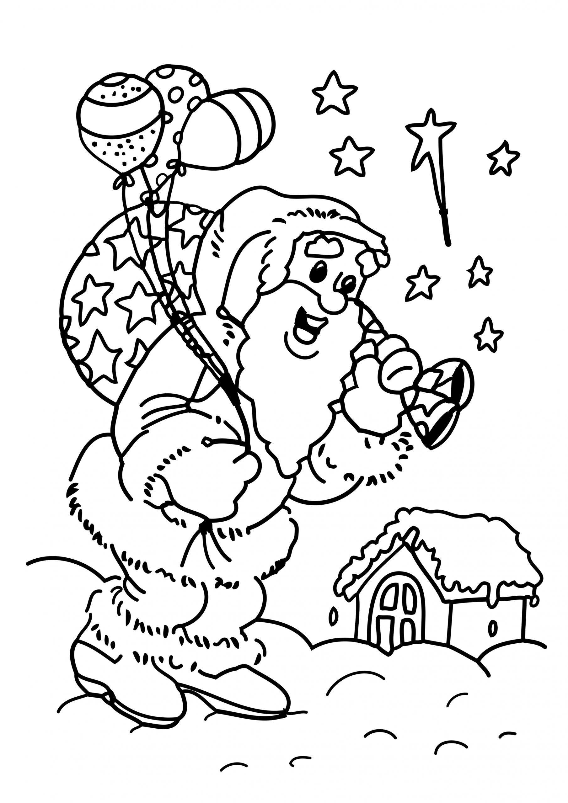 Coloriage Père Noël Cadeau À Imprimer intérieur Pere Noel À Colorier Et Imprimer