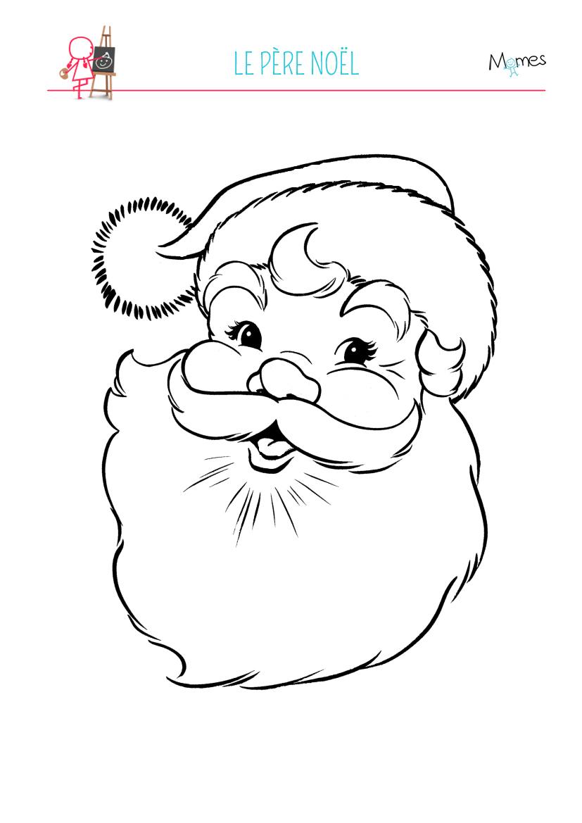 Coloriage Père Noël - Momes dedans Pere Noel À Colorier Et Imprimer