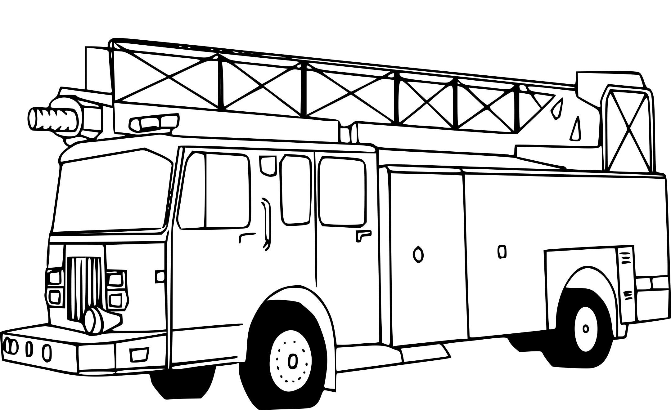 Coloriage Pompier Camion À Imprimer Sur Coloriages avec Coloriage Camion De Pompier Gratuit À Imprimer