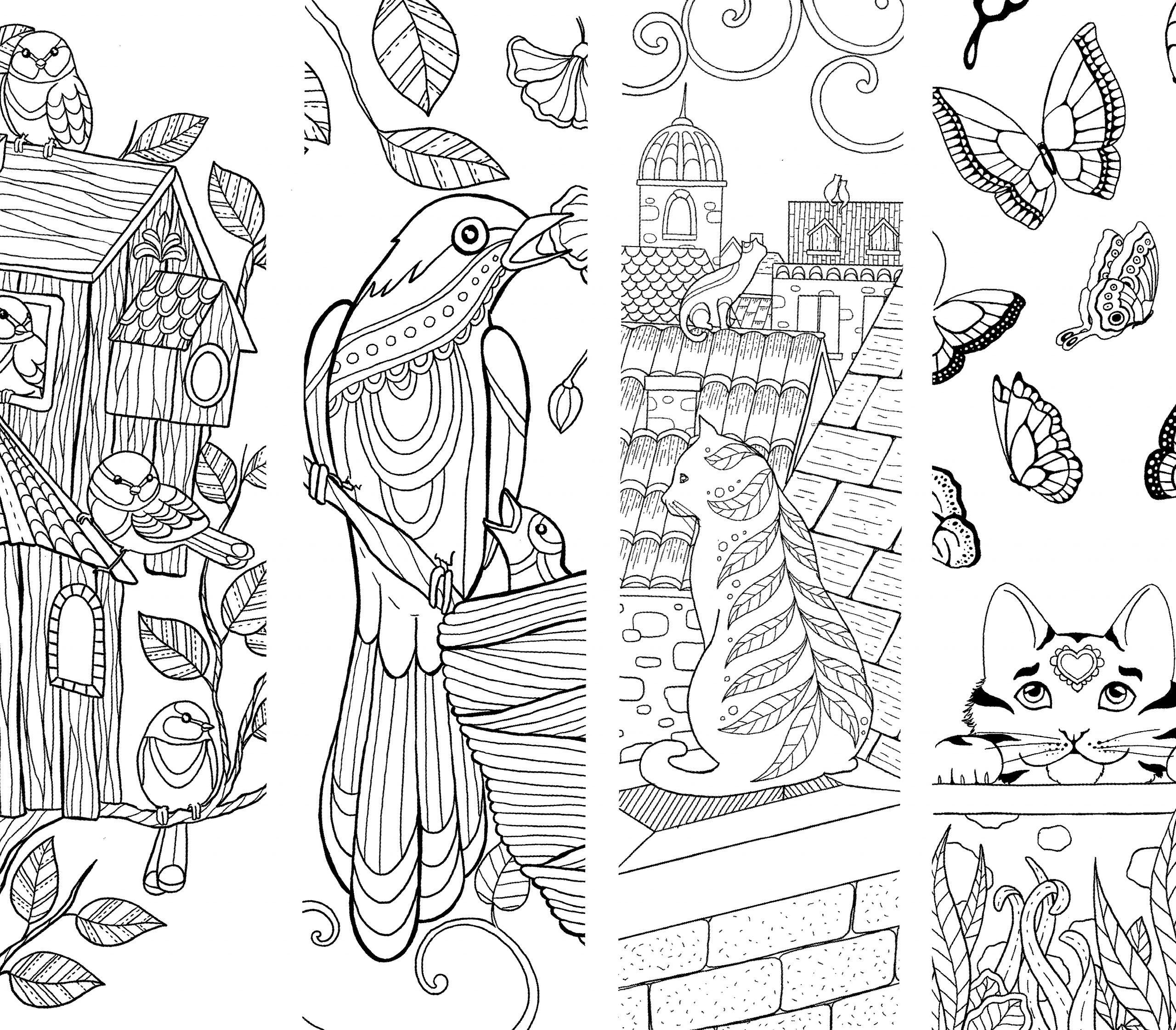 Coloriage Pour Enfants Et Adultes, Mandala intérieur Marque Page À Colorier