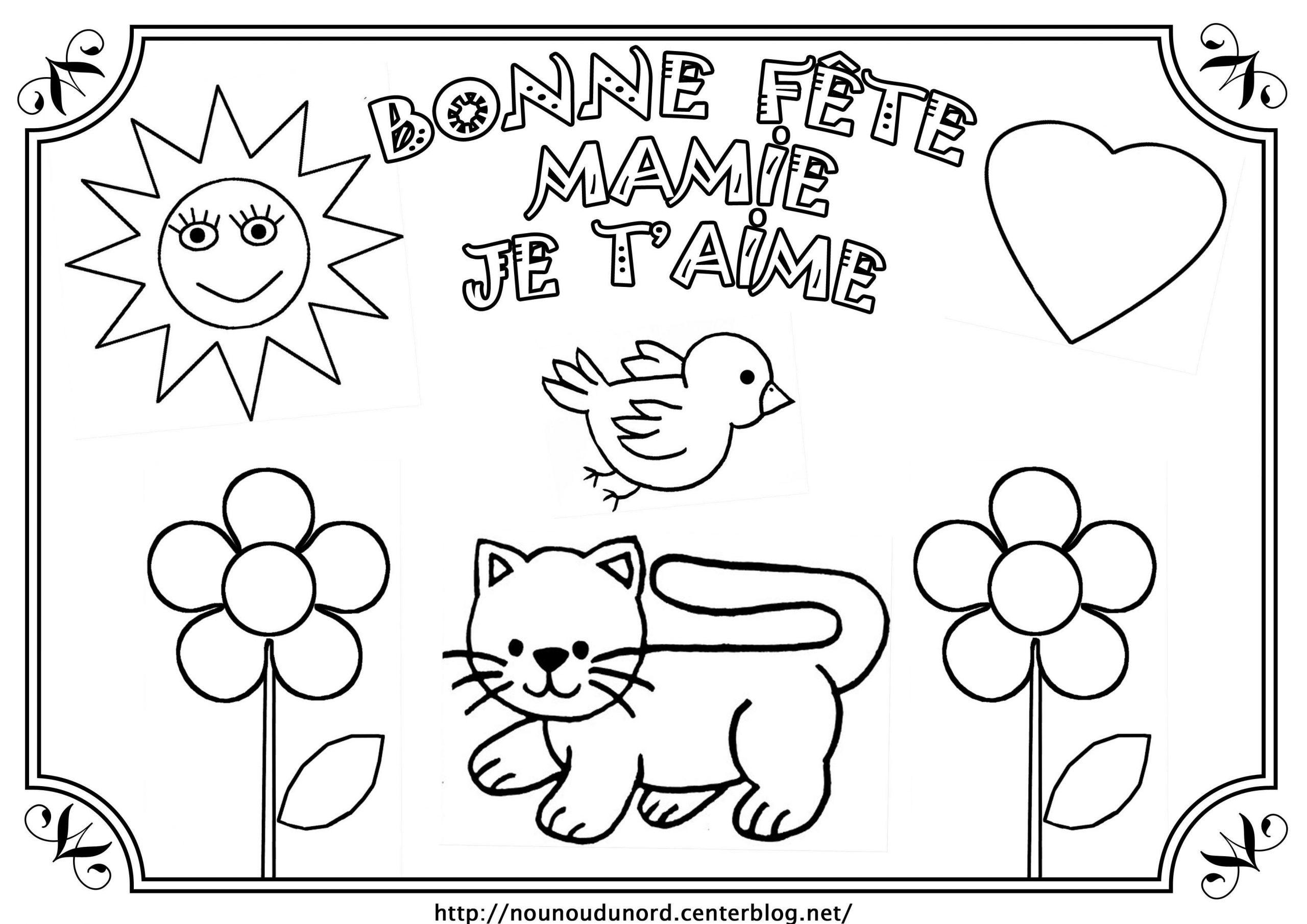 Coloriage Pour La Fete Des Grand Mere A Imprimer Printable avec Coloriage Fete Des Peres A Imprimer Gratuit