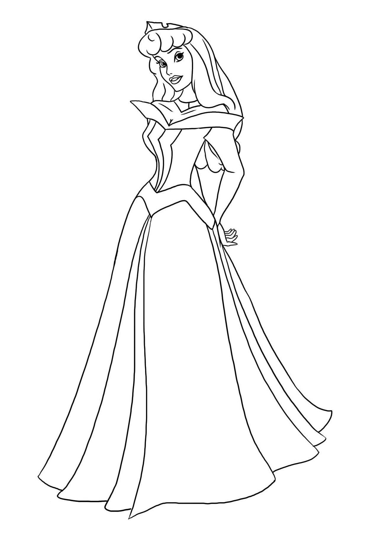 Coloriage Princesse À Colorier - Dessin À Imprimer à Princesse À Colorier Gratuit