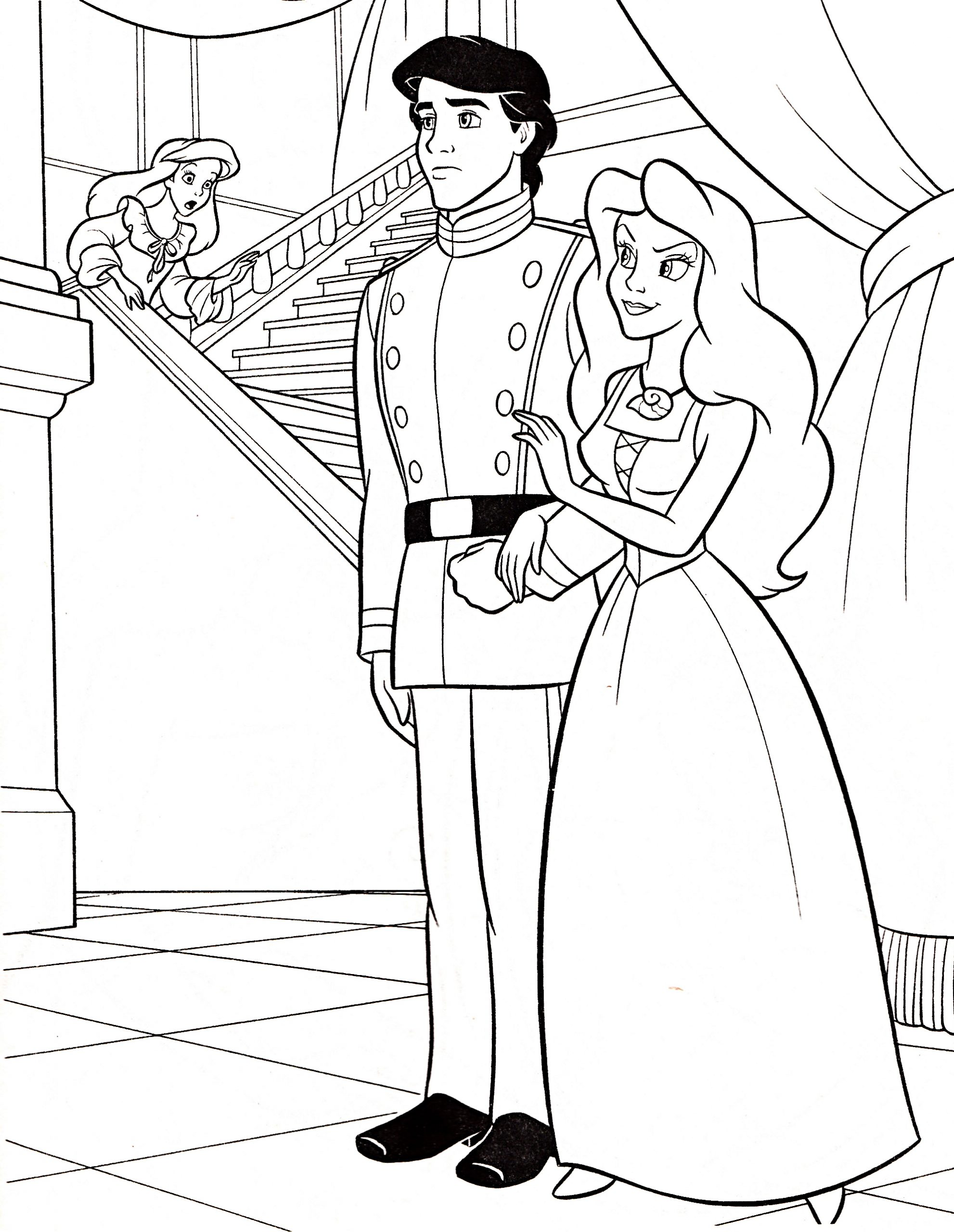 Coloriage Princesse Ariel À Imprimer avec Coloriage Princesse Sirene