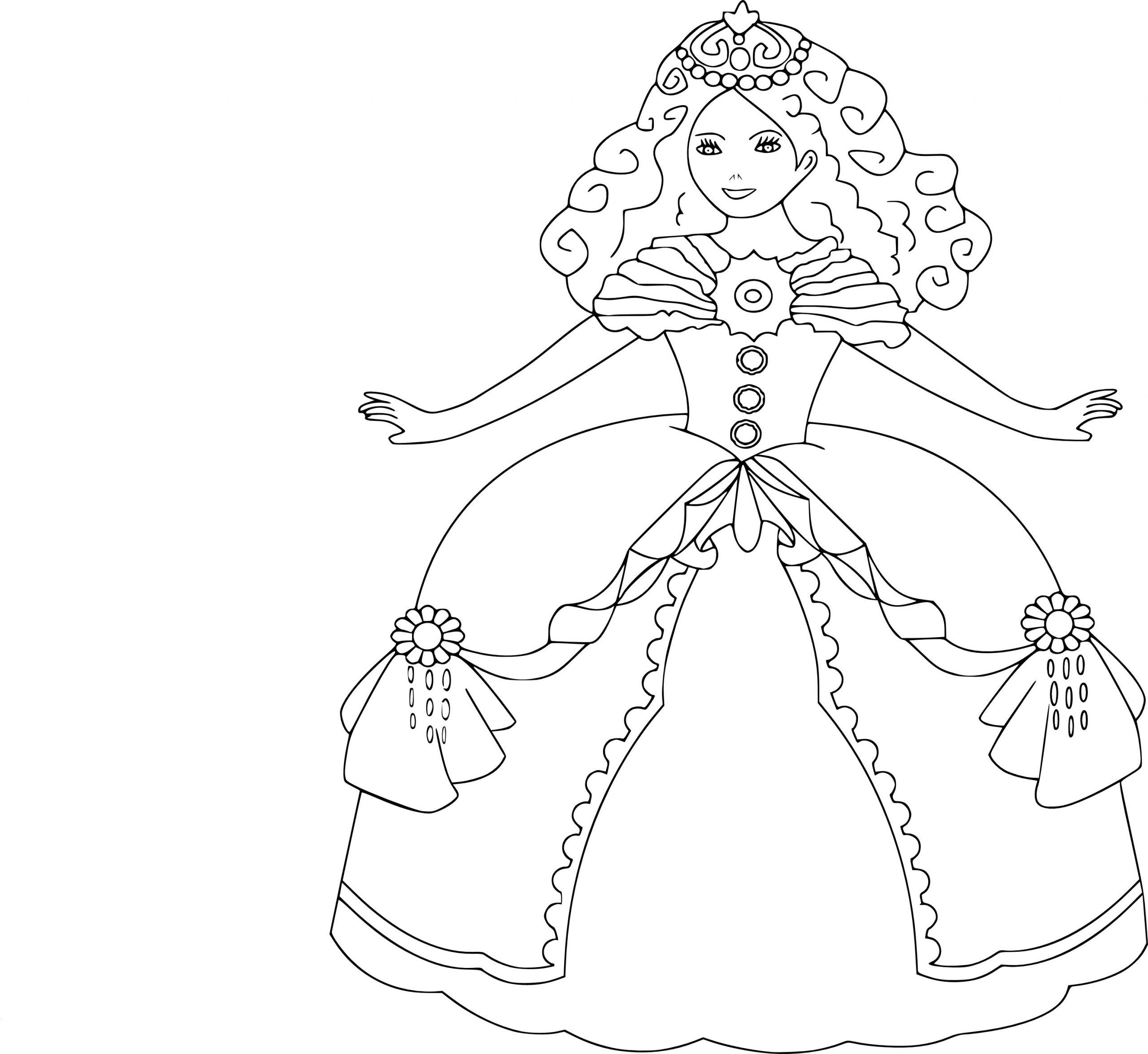 Coloriage Princesse Gratuit À Imprimer Et Colorier à Princesse À Colorier Gratuit