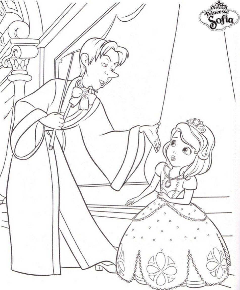 Coloriage Princesse Sofia Et Cedric | Coloriage À Imprimer serapportantà Feuille De Couleur A Imprimer Gratuit