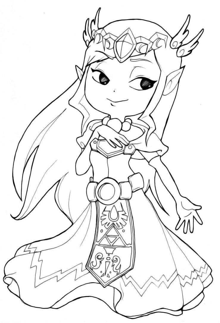 Coloriage Princesse Zelda Gratuit À Imprimer Sur Coloriages destiné Princesse À Colorier Gratuit