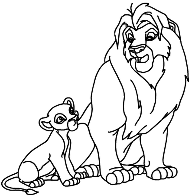 Coloriage Roi Lion En Ligne Gratuit À Imprimer destiné Photo De Lion A Imprimer En Couleur