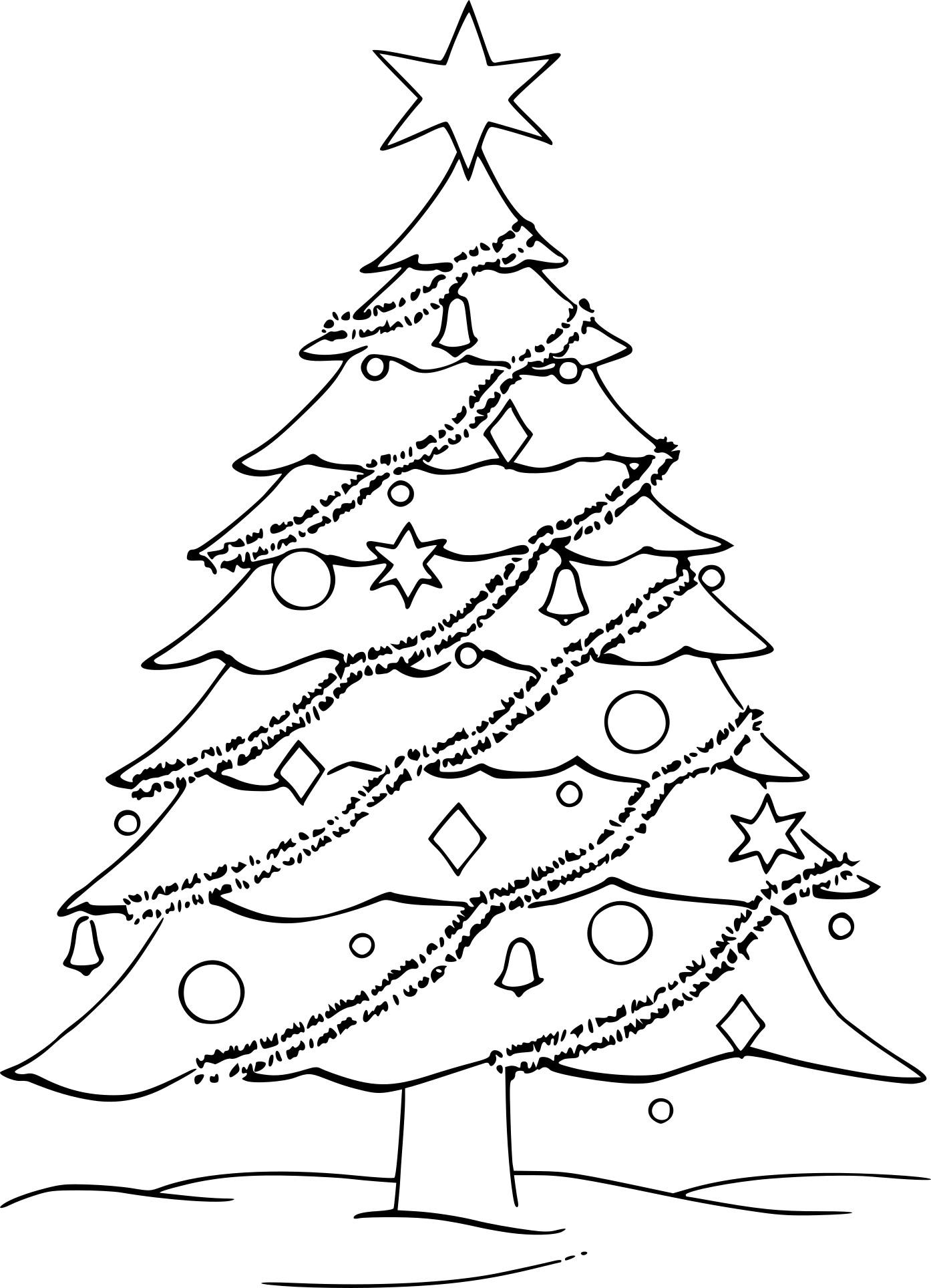 Coloriage Sapin De Noël Avec Des Guirlandes À Imprimer concernant Sapin De Noel A Colorier Gratuit
