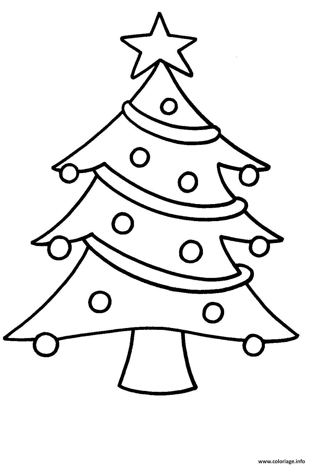 Coloriage Sapin De Noel Facile Pour Enfants Dessin encequiconcerne Dessin Facile Pour Enfant