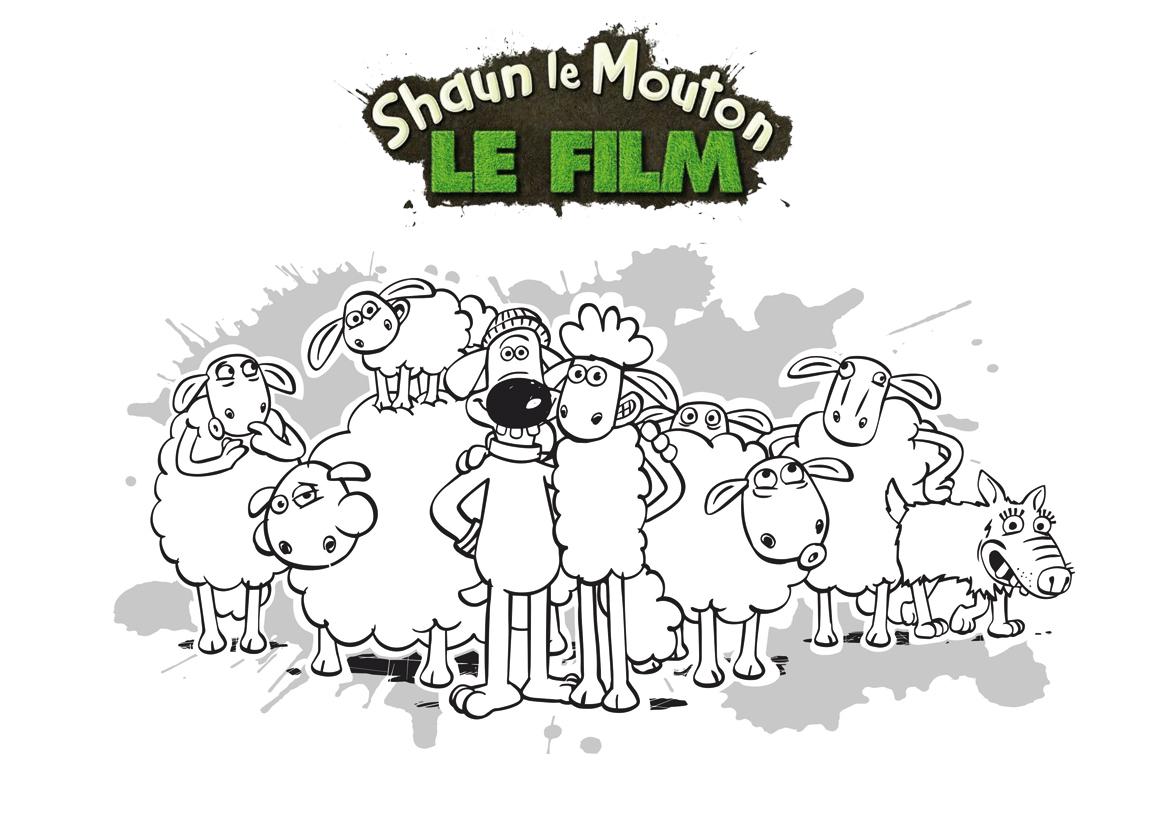 Coloriage Shaun Et Ses Amis - Momes destiné Mouton À Colorier