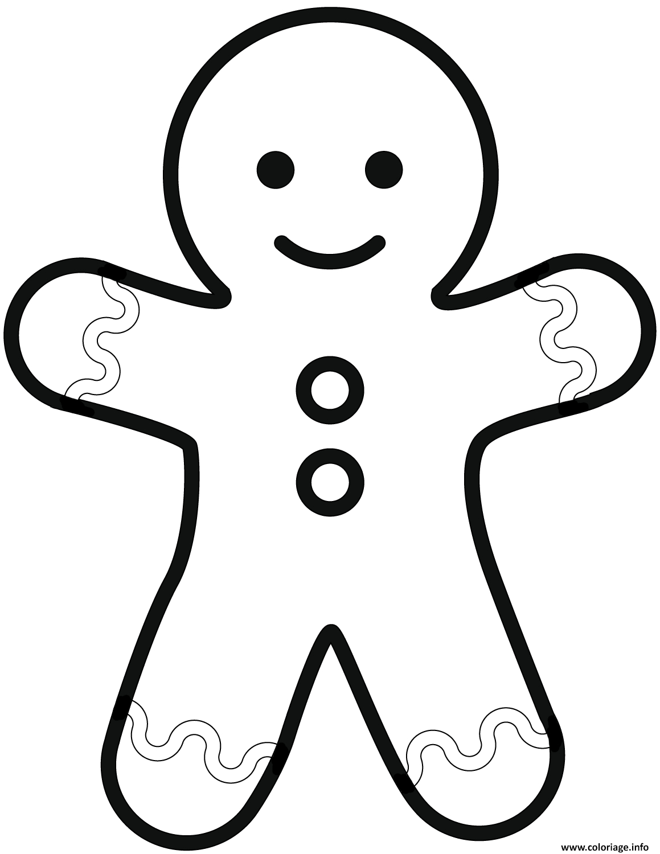 Coloriage Simple Gingerbread Man Dessin concernant Dessin À Colorier Sur L Ordinateur