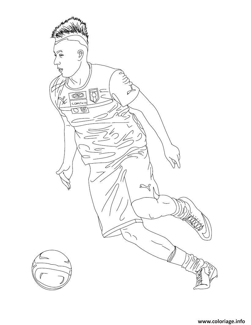 Coloriage Stephan El Shaarawy Joueur De Foot Dessin serapportantà Coloriage De Foot En Ligne