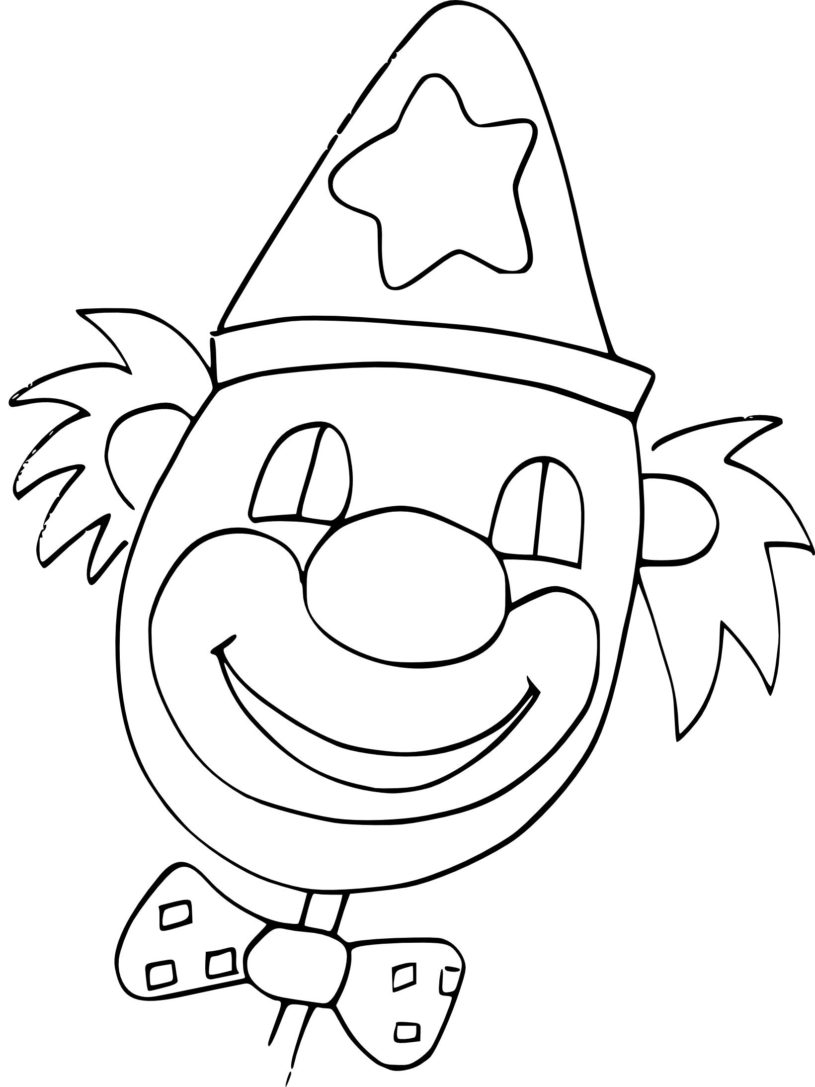 Coloriage Tête De Clown À Imprimer Sur Coloriages avec Coloriage Tete De Clown