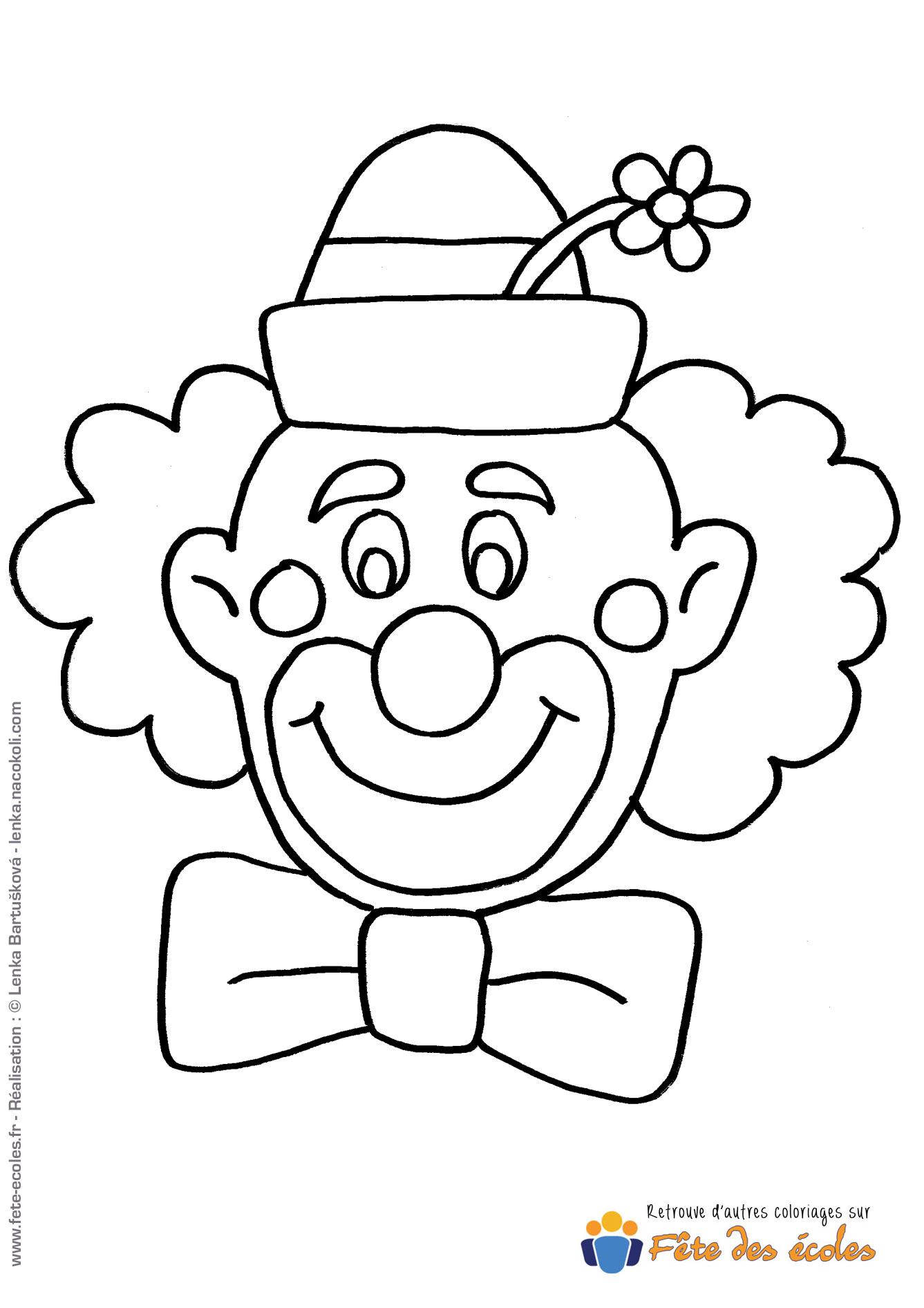 Coloriage Tête De Clown dedans Coloriage Tete De Clown