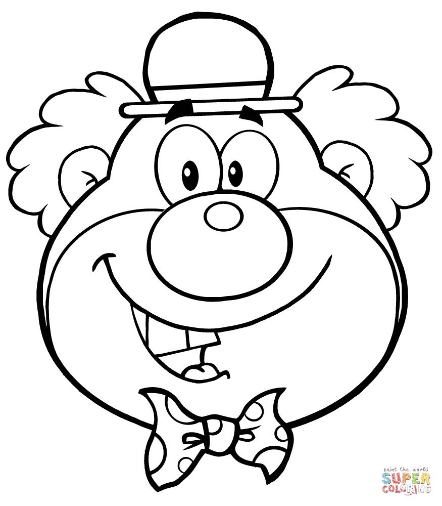 Coloriage - Tête De Clown Drôle | Coloriages À Imprimer Gratuits encequiconcerne Coloriage Tete De Clown