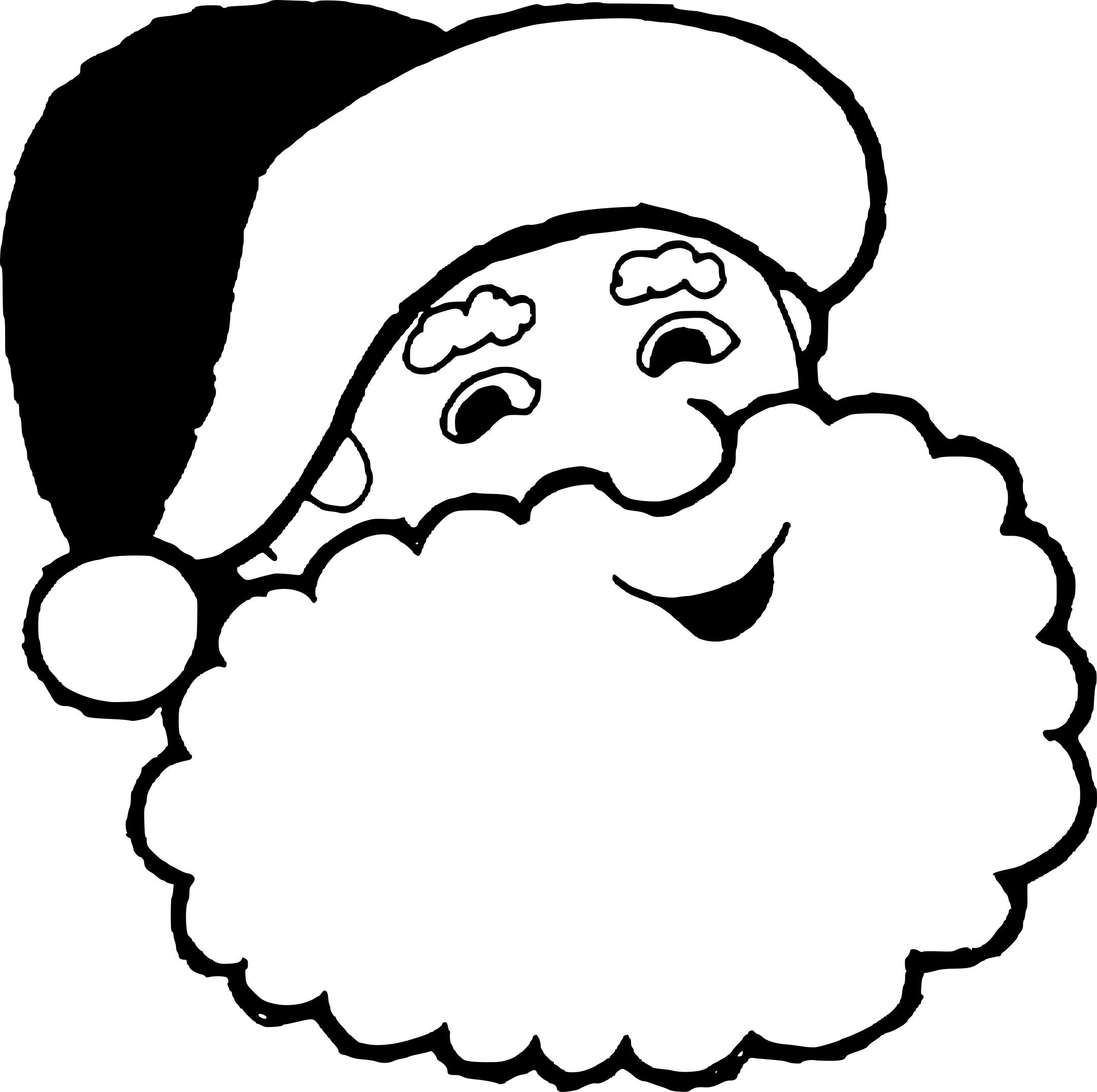 Coloriage Tête Du Père Noël À Imprimer Sur Coloriages serapportantà Pere Noel À Colorier Et Imprimer