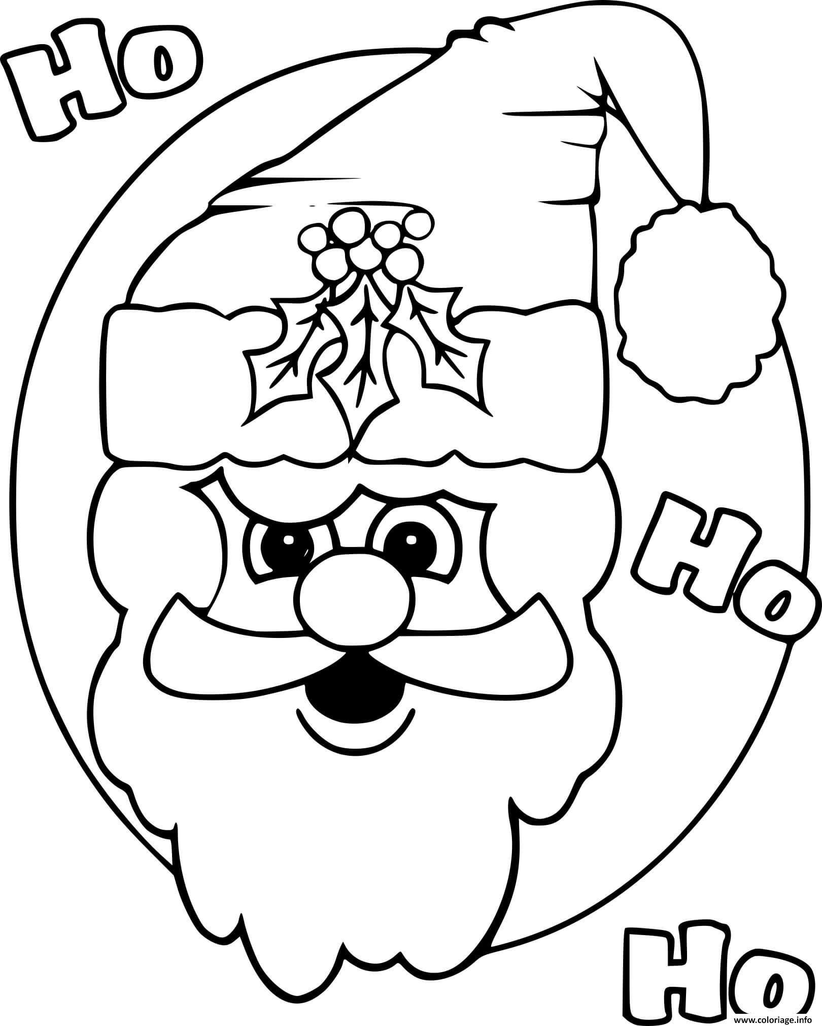 Coloriage Tete Du Pere Noel Avec Chapeau De Noel Dessin intérieur Dessin À Imprimer Pere Noel