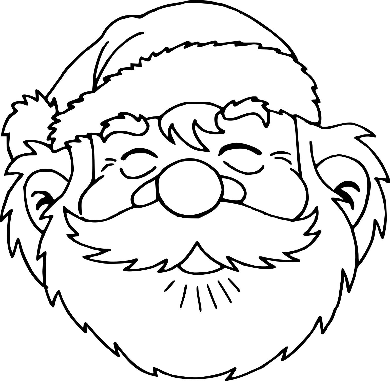 Coloriage Tête Père Noël Dessin À Imprimer Sur Coloriages destiné Dessin À Imprimer Pere Noel