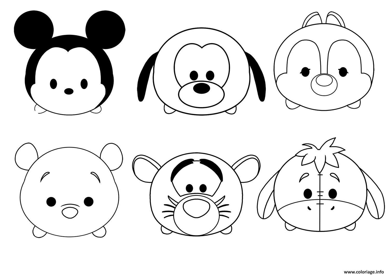 Coloriage Tsum Tsum Disney Facile Enfant Simple À Imprimer tout Dessin Facile Pour Enfant
