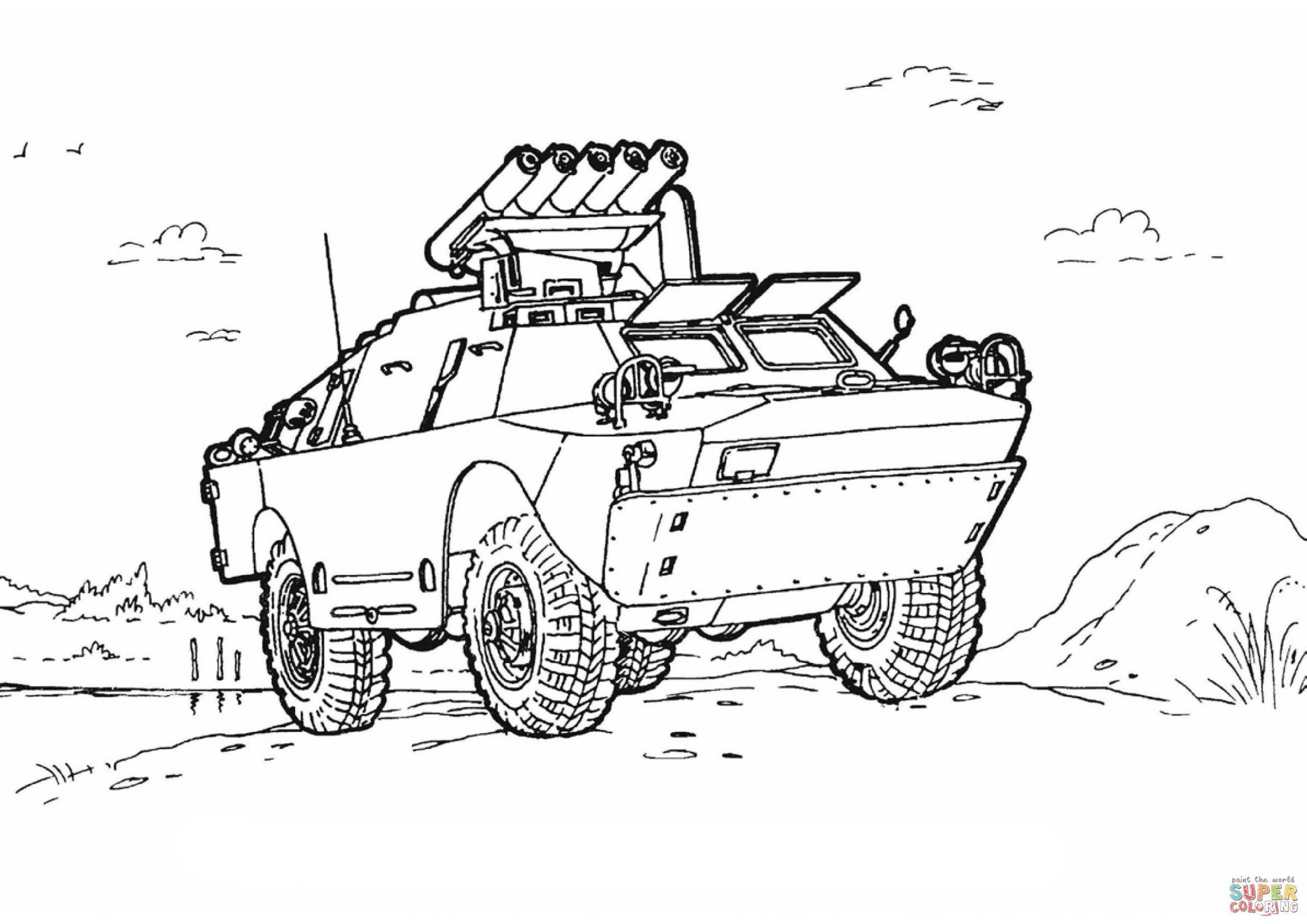 Coloriage - Véhicule De Guerre | Coloriages À Imprimer Gratuits avec Coloriage Vehicule