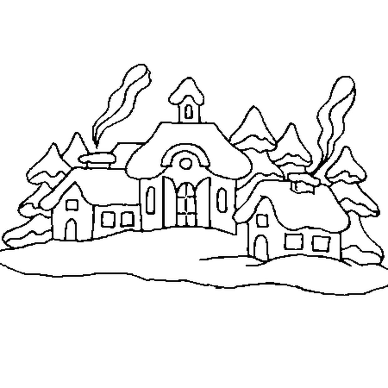 Coloriage Village De Noël En Ligne Gratuit À Imprimer dedans Coloriage Village De Noel