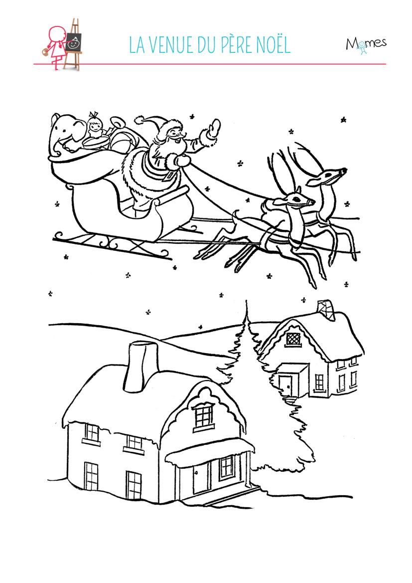 Coloriage Village De Noël - Momes concernant Coloriage Village De Noel