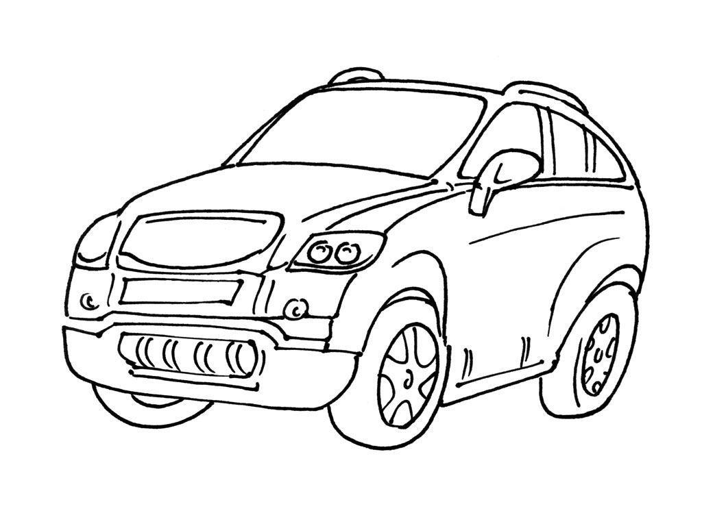 Coloriage Voiture 6 - Coloriage Voitures - Coloriages Transports encequiconcerne Coloriage Vehicule