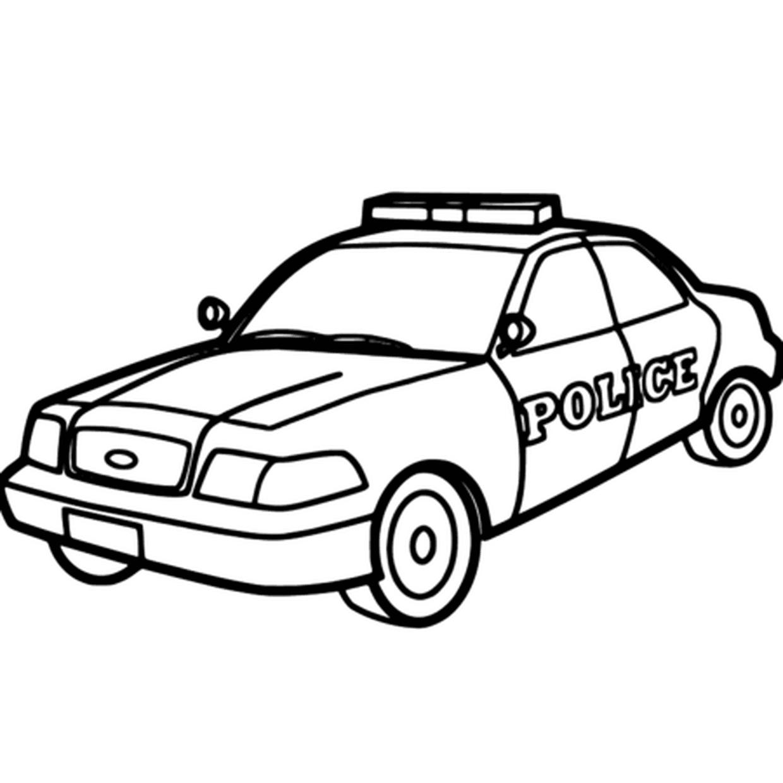 Coloriage Voiture De Police En Ligne Gratuit À Imprimer concernant Voiture Facile À Dessiner