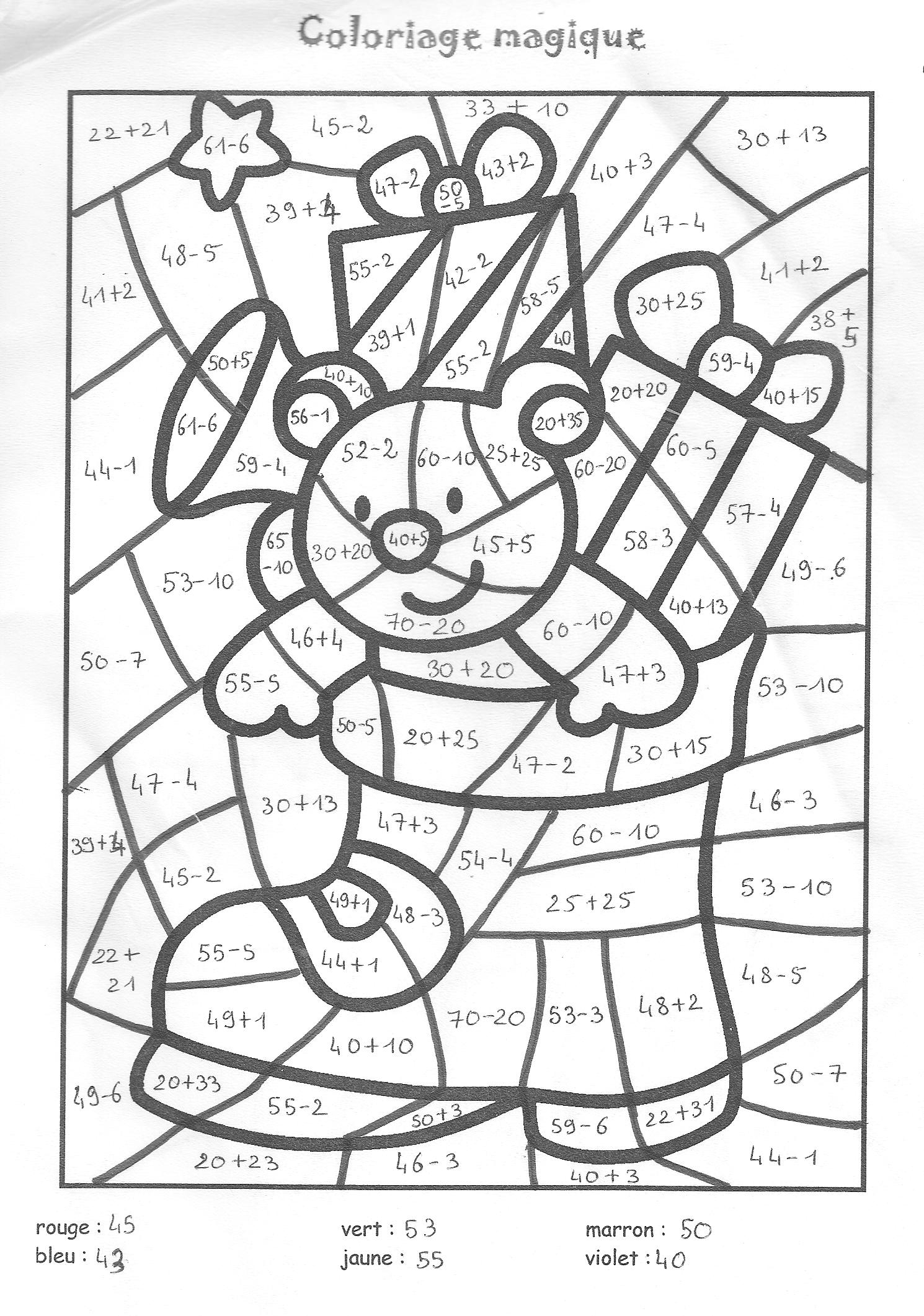 Coloriage204: Coloriage Magique De Noel À Imprimer à Coloriage Magique Maternelle Grande Section