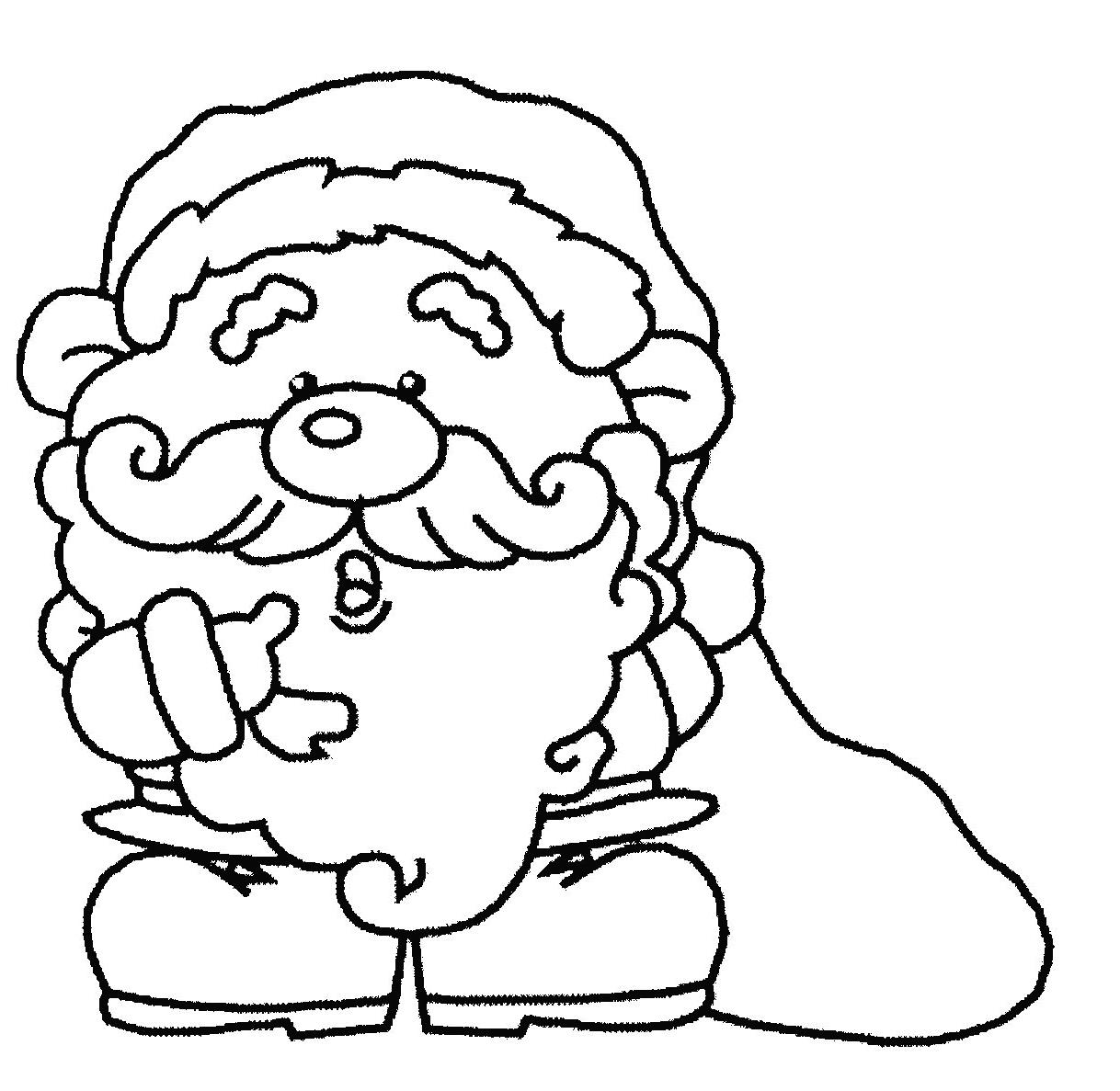 Coloriages À Imprimer : Père Noël, Numéro : 44753 avec Pere Noel À Colorier Et Imprimer