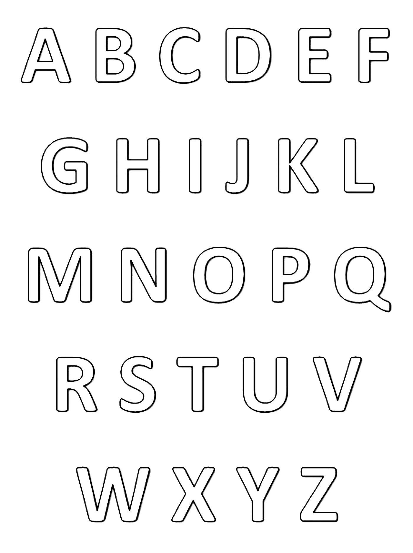 Coloriages Alphabet Et Lettres tout Coloriage Alphabet Complet A Imprimer